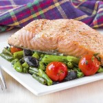 The Best Gluten Free Dinner Recipes Salmon Roasted with Tomatoes and Black Olives