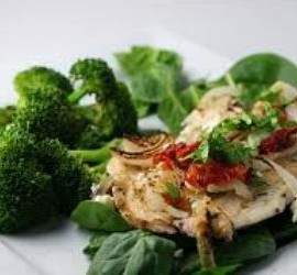 The Best Gluten Free Dinner Recipes Tilapia Florentine with Sun-Dried Tomatoes