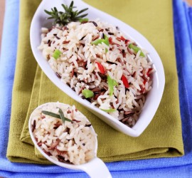 The Best Gluten Free Dinner Recipes Wild Rice with Dried Cranberries and Roasted Pecans